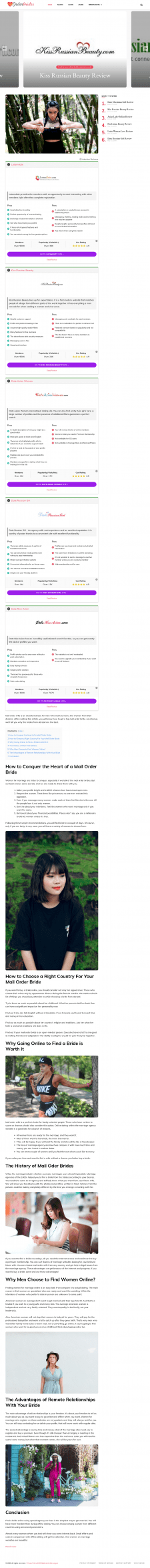 How To Conquer A Heart Of A Mail-Order Bride