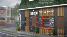Дизайн экстерьера магазина и мини-кофейни