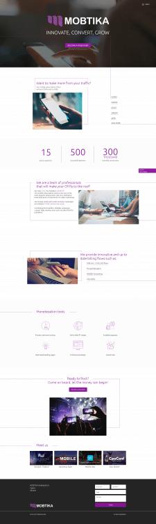 Дизайн сайта для медиа компании Mobtika