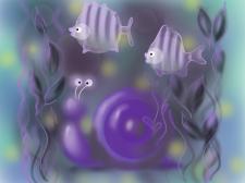 """иллюстрация """"подводный мир"""" (планшет)"""
