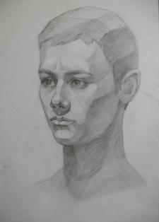 Портрет, академический рисунок