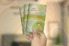 буклет для детской школы йоги