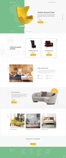 Дизайн сайта магазина мебели