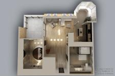 Квартира 129.2 м.кв. (вид сверху)
