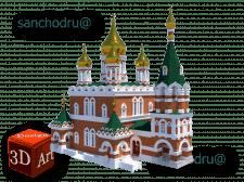 Модель церкви в SketchUp