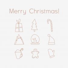 "Иконки на тему ""Рождество"""