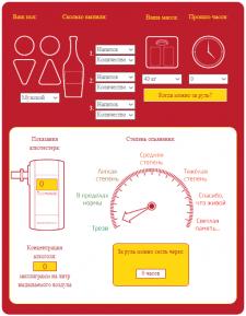 Тест на алкоголь (онлайн-калькулятор промиле)