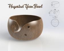 Rosewood Hagestad Yarn Bowl 17,5*10 см