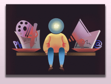 Иллюстрация для сайта рекламного агентства