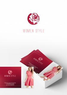 Логотип и визитка для магазина платьев