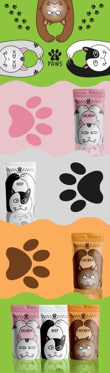 Упаковка корм для котов