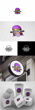 Логотип для кафе Burgerland