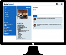 SPA социальной сети на React/Redux.