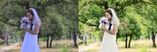 Ретушь свадебных фото.До и после 2