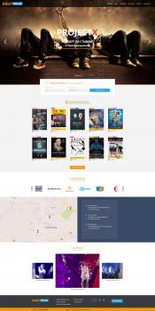 Дизайн сайта покупки билетов bilet.km.ua