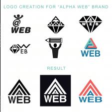 Логотип для компании Alpha Web