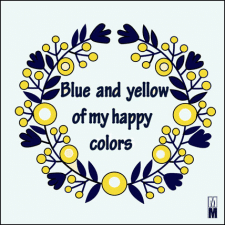 "print ""blue and yellov"""