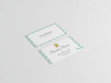 business card for handmade studio2