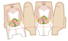 Коробка, упаковка для подарков 'Невеста'