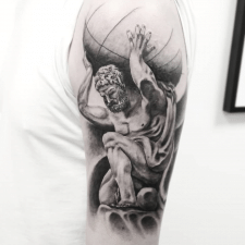 Тату Атлант tattoo Atlas