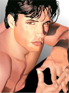 векторная отрисовка портрета