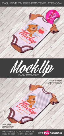 FREE BABY BODYSUIT MOCK-UP IN PSD