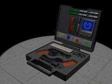 3d-модель чемоданчика с прибамбасами.