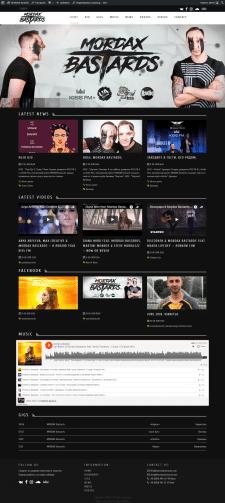 Сайт для украинского EDM дуета