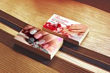 Дизайн визитки накладные ногти