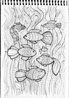 Графика рыбки