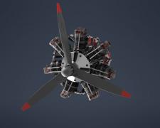Моделювання та візуалізація сем радіального мотору