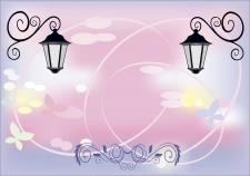 Фон со старинными фонарями