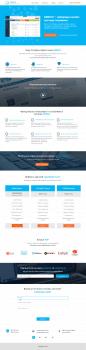 Дизайн Landing page GENIUS  testing system