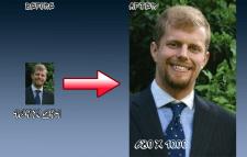 Увеличение фотографии