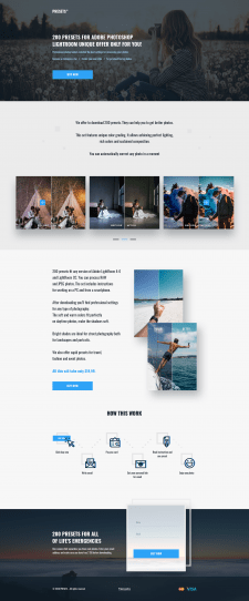 "Дизайн Landing page ""Presets"""