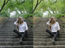 Цветокоррекция и размытие фона фотографии