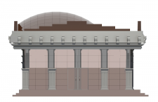 Проект торгового комплекса (фасад)