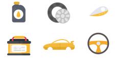 Иллюстрации для магазина автозапчастей