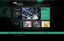 Макет сайта портфолио