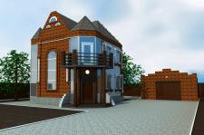 3д визуализация здания-3