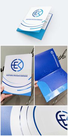 Дизайн папки с гибридным выборочным лаком по лицу