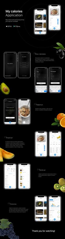 Мобильное приложение по исчислению калорий