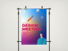 Листовка и баннер для дизайн конференции