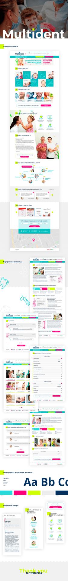 Корпоративный сайт. Multident