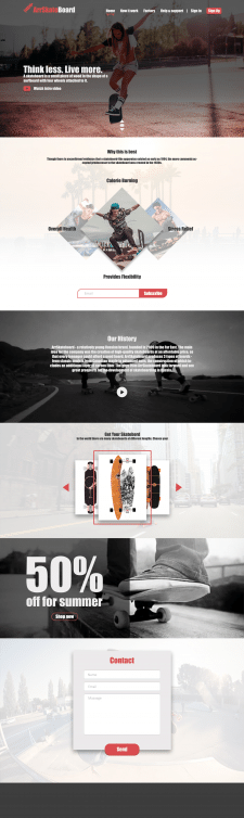 Design site skateboard club