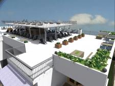 Зона отдыха и ресторан на крыше отеля