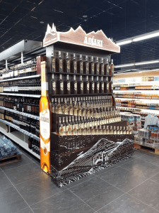 Рекламная стойка для алкогольной продукции