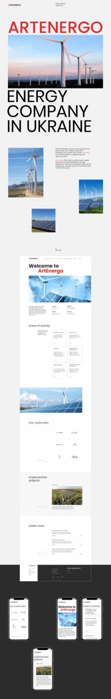 ARTENERGO — corporate website redesign