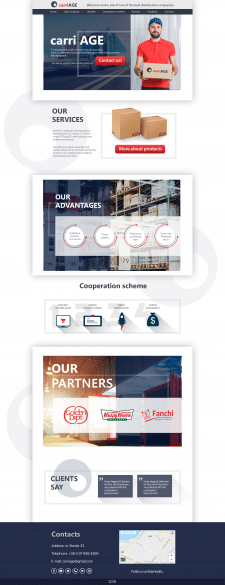 PSD template for distribution/logistic company