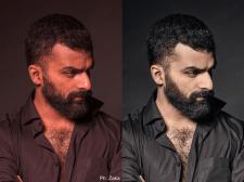 Цветокоррекция и ретушь мужского портрета